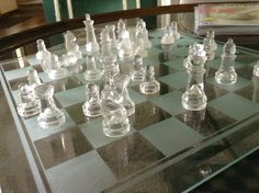 glass chess! cool