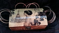 Jewerly box,  Jeweler gift box, Wedding gift,Vintage jewerly box, Wooden box, Storage box, Furniture boxes, Decopage box, PO Box paris joyas de tossart en Etsy