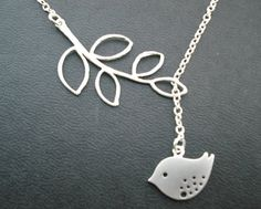 Great bird pendant lariat necklace by Keoni Designs.