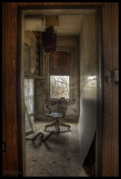 Inside an abandoned house in rural Ontario.