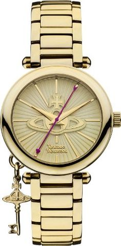 4f865e0e1b Vivienne Westwood Womens VV006KGD Kensington II Analog Display Swiss Quartz  Gold Watch   For more information