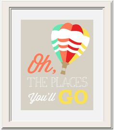 Custom Oh The Places You'll Go Dr Seuss Printable by OliveandBirch, $4.50