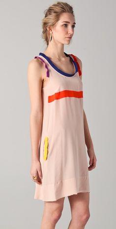 Sonia by Sonia Rykiel Tank Dress with Contrast Trim