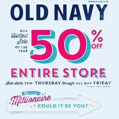 Old navy million dollar thanksgiving
