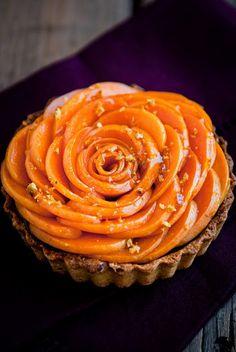 Apricot Pistachio Chocolate Mousse Tartlets.