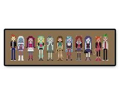 Monster High Cross Stitch PDF Pattern by HugSandwich on Etsy