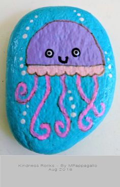 Jellyfish Painted Rock – Aug 2018 – Art – Art is my life. Jellyfish Drawing, Jellyfish Painting, Watercolor Jellyfish, Jellyfish Tattoo, Jellyfish Quotes, Jellyfish Tank, Jellyfish Aquarium, Jellyfish Facts, Tattoo Watercolor