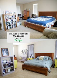 Gorgeous Bedroom Makeover on a Budget