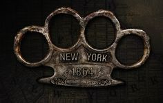 Old brass knuckle duster, New York Metropolitan Police, 1864  the police used to get brass knuckles. let that sink in.