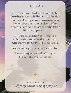 """ACTION"" Wisdom Card – Diana Cooper"