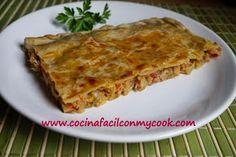 Mis recetas Mycook: Empanada de Atún Lasagna, Cooking, Ethnic Recipes, Food, Empanadas Recipe, Fish Recipes, Soup Bowls, Ethnic Food, Beverage