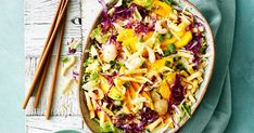 Crunchy noodle salad gets a 2018-style update with the addition of mango and lychee – it's perfect for summer barbecues!