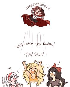 Hahaha look first at Weiss and Blake's face than at Yang's and Ruby's