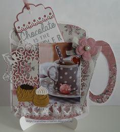 Caroline's Creaties Card Making Templates, Scrapbook Borders, Cuppa Tea, Marianne Design, Penny Black, Funny Cards, High Tea, Diy Cards, Box
