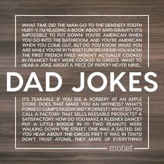 What better time to celebrate the heroes in our lives and the delightful art of telling corny dad jokes! Happy Father's Day! Do You Know What, Dad Jokes, Time To Celebrate, Happy Father, Diy Cards, Coming Out, Books To Read, It Hurts, Reading