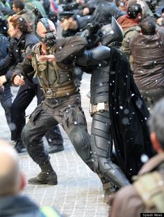 """Banes all like, """"Bro. Seriously, the armpit? You do not have my permission to put your hands there"""" and Batmans all like, """"Whatever, bro. I'm Batman. The Dark Knight Trilogy, The Dark Knight Rises, Batman The Dark Knight, Batman Sets, Im Batman, Superman, Nolan Film, Batman Christian Bale, Watch The World Burn"""