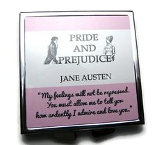 "Pride & Prejudice, Mr Darcy Compact Mirror, Jane Austen, ""You must allow me to.. £6.50"