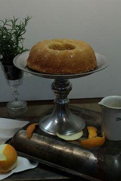 satsuma bundt cake with a blood orange-rosemary glaze