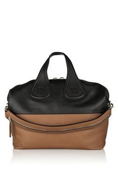 Medium Nightingale bag in black and tan leather #accessories #covetme #givenchy