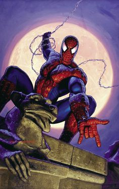 Greg Hildebrandt - Spider-Man Poster Illustration Painting Original Art (1990s).