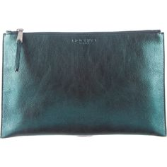 Rochas Metallic Clutch w/ Tags (4.009.800 IDR) ❤ liked on Polyvore featuring bags, handbags, clutches, blue, blue clutches, leather clutches, genuine leather purse, leather man bags and handbag purse