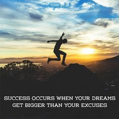 Success occurs when your dreams get bigger that your excuses. #quoteoftheday #quote #instaquote #instagood #inspiration #motivation #success #love #TagsForLikesApp #TFLers #tweegram #photooftheday