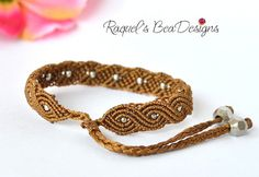 Exotic Twisted Path Micro Macrame Bracelet Pattern