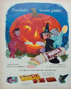 Vintage Halloween Ad... their little faces are so cute!