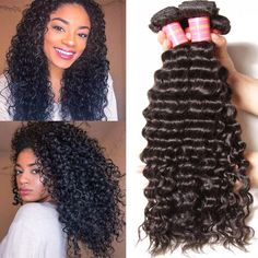 Nadula Best Quality Virgin Malaysian Deep Wave Weave,Thick Deep Wave Malaysian Hair,Affordable Malaysian Deep Wave Bundles Deals,Our Malaysian Deep Wave Hairstyles Are The Best Selling. Indian Hairstyles, Weave Hairstyles, Straight Hairstyles, Black Hairstyles, Teenage Hairstyles, Hairstyles 2016, Beautiful Hairstyles, Remy Human Hair, Human Hair Extensions