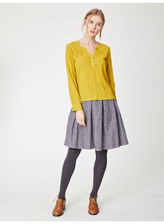 Our simplistic, organic cotton blouse comes in four contemporary new-season colours. In a relaxed fit, this V-neck shirt is made from a light cotton crepe material, perfect for spring, with subtle gathering at the front. Pair it with jeans or trousers fo Grey Tights, Cotton Lights, Season Colors, Cotton Blouses, Button Up, Organic Cotton, Trousers, Tunic Tops, V Neck