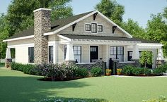 Plan Simply Simple One Story Bungalow - Plan Craftsman, Ranch, Shingle Style, Cottage, Northwest House Plans & Home Designs - House Plans One Story, Small House Plans, House Floor Plans, One Story Homes, Story House, Simple Ranch House Plans, Small Cottage Plans, Single Story Homes, Cottage House Plans