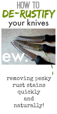 How to remove rust stains from your kitchen knives quickly and naturally!