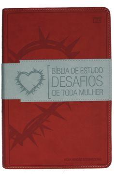 Editora Mundo Cristão - Livro: Bíblia de estudo desafios de toda mulher - Vermelha - Diversas autoras