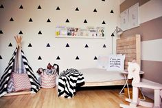 vin stickers +girls room idea