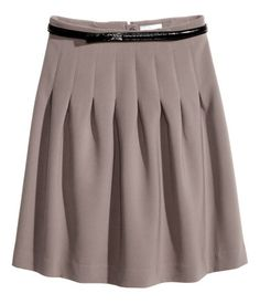Gorgeous gray pleated over the knee skirt H&M