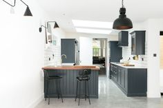 A contemporary cool Shaker kitchen by deVOL in East Dulwich, London