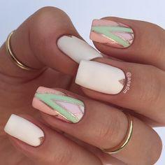 11 Trending Summer Nail Designs Of July 2019 - Society Girls 25 Gold Nails, Matte Nails, Summer Nails 2018, Nail Summer, Spring Nails, Nagellack Design, Baby Pink Nails, Nail Art Design Gallery, Leopard Print Nails