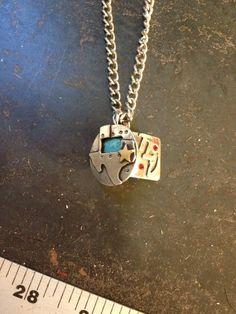 Custom order welder pancake pendant