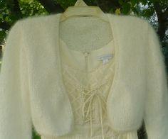 Fit for a Princess - Kate's Bolero - Ivory or White in 100 percent angora. $200,00, via Etsy.