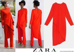 Zara 2019 collection Princess Estelle, Crown Princess Victoria, Spain Fashion, Beige Pumps, Zara Skirts, Pippa Middleton, Queen Letizia, Asymmetrical Tops, Royal Fashion