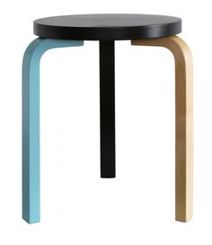 Stool 60 by Alvar Aalto, 1933: The quintessence of functionalist furniture design. The simple idea behind this now-classic stool is based on the distinctive three bent legs and a round seat.  #Furniture #Stool #Alvin_Aalto