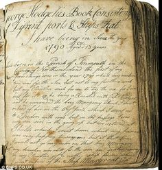 18th century sailor's diary (I considered faking an aged look to make it seem like it was from that period).