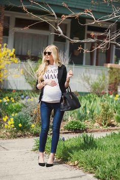 'BABY MAMA' tee with baby bump