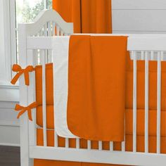 Girl Baby Bedding / Boy Baby Bedding / Gender Neutral Baby Bedding: Solid Orange Crib Blanket by Carousel Designs