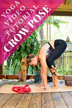 Crow Pose Video Tutorial - Pin now, learn how to fly later! Crow Pose Video Tutorial - Pin now, learn how to fly later! Ashtanga Yoga, Vinyasa Yoga, Yin Yoga, Yoga Inspiration, Meditation, Crow Pose, Learn Yoga, Yoga Positions, Yoga At Home