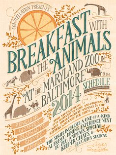 Zoo Event Poster by Livy Long, via Behance  I want to find a way to use the style in an anchor chart