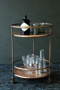 Copper Drinks Trolley - Mad About The House