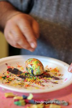 Melted Crayon Easter Eggs
