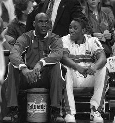 Michael Jordan and Isiah Thomas