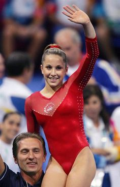 Carly Patterson after winning the All-Around  Athens 2004 Olympics